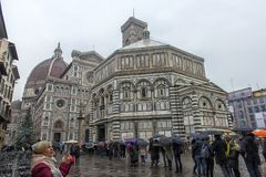 Katedra Santa Maria Del Fiore i Baptistery St JohnBa Obrazy Stock