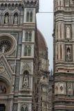 Katedra Santa Maria Del Fiore i Baptistery St JohnBa Fotografia Royalty Free