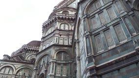 Katedra Santa Maria Del Fiore w Florencja na Duomo kwadracie - Tuscany zdjęcie wideo