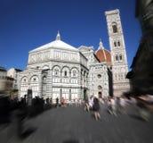 Katedra Santa Maria Del Fiore z Baptistery i Giotto ` s dzwonkowy wierza w Florencja obrazy stock