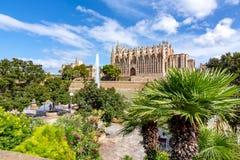 Katedra Santa Maria Palma los angeles Seu, Palma de Mallorca, Hiszpania fotografia royalty free