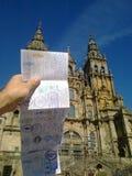 Katedra Santiago De Compostela, Galicia Hiszpania Obraz Stock