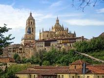 Katedra Segovia Obrazy Royalty Free