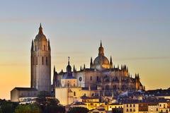 Katedra Segovia Hiszpania Opóźniony gotyka styl dzwonił Damy katedry obraz royalty free