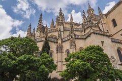 Katedra Segovia lub dzwoniąca prawidłowo w hiszpańszczyznach zdjęcie royalty free