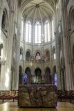 Katedra Senlis, wnętrze Obraz Stock