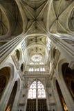 Katedra Senlis, wnętrze Zdjęcia Stock