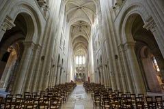 Katedra Senlis, wnętrze Zdjęcia Royalty Free