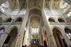 Katedra Senlis, wnętrze Obrazy Royalty Free