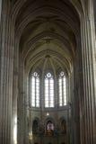Katedra Senlis, wnętrze Fotografia Royalty Free