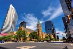 Katedra St John ewangelista na przełożonym Ave, Cleveland zdjęcie stock