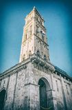 Katedra St Lawrance w Trogir, analogowy filtr zdjęcia stock
