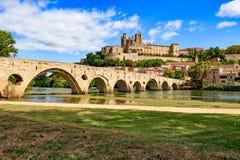 Katedra, St Nazaire, Beziers, Francja fotografia royalty free