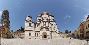 Katedra St Panteleimon Wielki męczennik w Nowym Athos monasterze St Simon gorliwiec Obrazy Stock