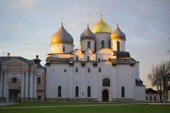 Katedra St Sophia & x28; święta mądrość God& x29; , Veliky Nov Obraz Stock