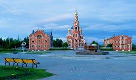 Katedra St Vladimir Novocheboksarsk Zdjęcia Stock