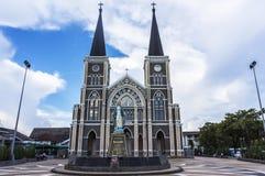 Katedra w Chantaburi Zdjęcia Royalty Free