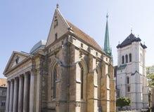 Katedra w Geneva Obrazy Stock