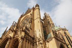 Katedra w Metz, Francja Fotografia Royalty Free