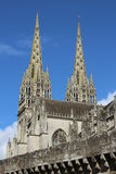 Katedra w Quimper, France obraz royalty free