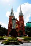 Katedra w saigon mieście Zdjęcie Royalty Free