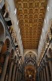 katedra wewnątrz Piza Zdjęcie Stock