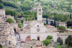 Katedra święty Clare w Assisi, Umbria, Włochy Fotografia Stock