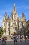 Katedra Święty Krzyż i Świątobliwy Eulalia Obrazy Royalty Free