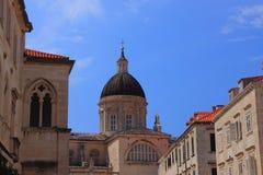 Katedra wniebowzięcie Błogosławiony maryja dziewica w Dubrovnik, zna jako ` Velika Gospa ` zdjęcie royalty free
