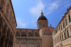 Katedra wniebowzięcie Błogosławiony maryja dziewica w Dubrovnik, zna jako ` Velika Gospa ` zdjęcie stock