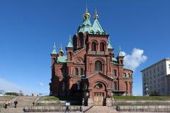 Katedra wniebowzięcie helsinki Finlandia obraz royalty free