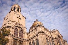 Katedra wniebowzięcie - punkt zwrotny Varna, Bułgaria Zdjęcia Royalty Free