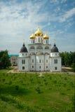 Katedra wniebowzięcie w Dmitrov Kremlin Zdjęcia Stock