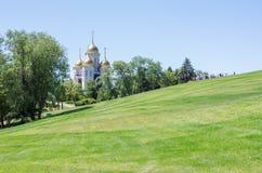 Katedra Wszystkie święty na Mamayev wzgórzu fotografia stock