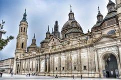 Katedra Zaragosa obrazy stock