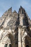 Katedrala SV Vita no hrad de Prazsky na cidade de Praha na república checa imagem de stock royalty free