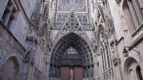 Katedralna alei powierzchowność w Rouen, Normandy Francja, plandeka zdjęcie wideo