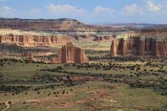 Katedralna dolina, Capitol Rafowy park narodowy Zdjęcia Stock