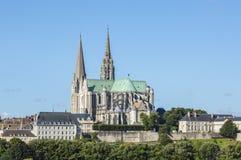 katedralna katolicka Chartres dziedzictwa damy punkt zwrotny lista spisywał unesco nasz świat stary zdjęcie royalty free
