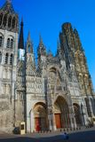 Katedralna Notre-Dame Rouen Zachodnia fasada obrazy stock