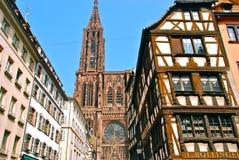 katedralna Paniusia De Notre Strasbourg Fotografia Royalty Free