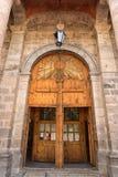Katedralna powierzchowność w Realu De Catorce Meksyk Zdjęcie Stock