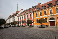 Katedralna street in Ostrow Tumski in Wroclaw Royalty Free Stock Photography