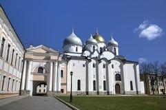 katedralnego centre miasta Kiev świątobliwy sophia Ukraine Fotografia Royalty Free