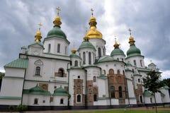 katedralnego centre miasta Kiev świątobliwy sophia Ukraine zdjęcia royalty free