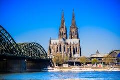 katedralnego cologne sławnego Germany dziedzictwa międzynarodowy punkt zwrotny miejsca unesco świat Obraz Royalty Free