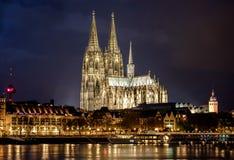 katedralnego cologne sławnego Germany dziedzictwa międzynarodowy punkt zwrotny miejsca unesco świat Fotografia Royalty Free