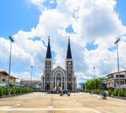 katedralnego katolickiego chanthaburi kościelny poczęcie niepokalany gubernialny rzymski Thailand zdjęcia royalty free