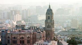Katedralnego Malaga, Malaga prowincja, Costa Del Zol, Hiszpania Zdjęcie Stock