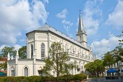 katedralni chijmes Singapore Zdjęcie Royalty Free